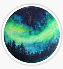 Aurora Borealis Aquarell Sticker