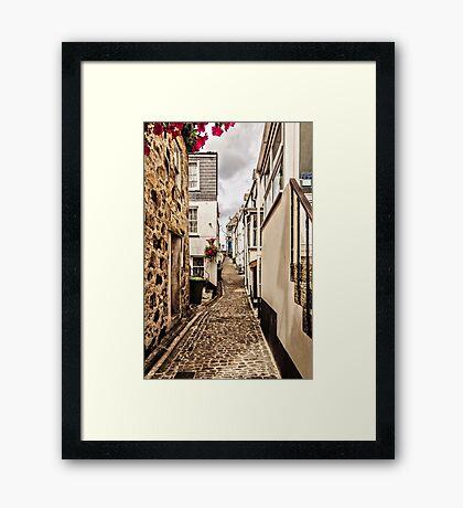 Narrow Cornish street Framed Print
