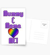 Mummy & Mama Love Me | Lesbian Parenting Postcards