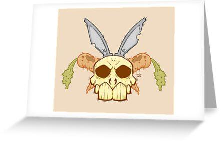 Old Rabbit Skull by crabro
