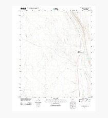 USGS TOPO Map Arizona AZ Willow Springs 20111027 TM Photographic Print
