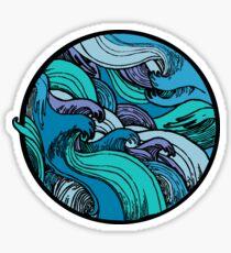 Wave Circle Sticker