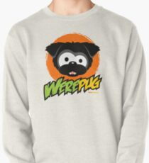 Black WerePug - White/Light Apparel & Stickers Pullover
