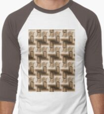 Battery Mishler ladder going nowhere, sepia pattern Men's Baseball ¾ T-Shirt