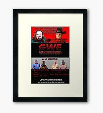 GWE Show Flyer Framed Print