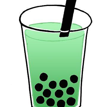 Green Boba Tea by phronemophobe