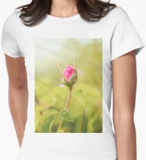 Rosebud on the Branch in the Garden Womens Fitted T-Shirt