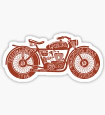 Vintage Motorcycle Hand drawn Silhouette Sticker