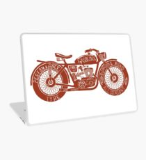 Vintage Motorcycle Hand drawn Silhouette Laptop Skin