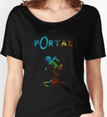 Portal Minimalist Nebula Design Women's Relaxed Fit T-Shirt