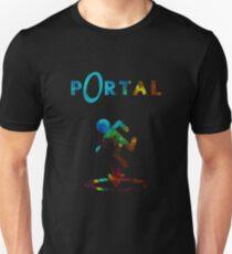 Portal Minimalist Nebula Design Unisex T-Shirt