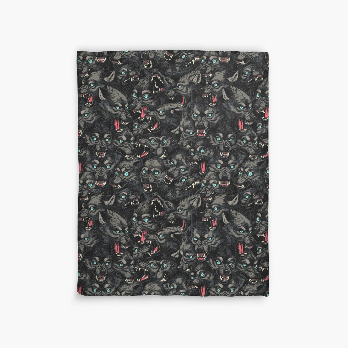 Quot Wolf Pack Pattern Quot Duvet Covers By Freeminds Redbubble