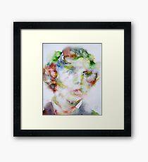 LEWIS CARROLL - watercolor portrait.2 Framed Print