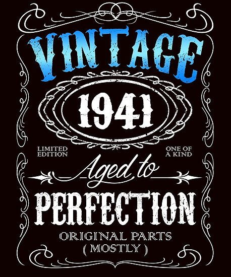 75th Birthday Gift For Men Vintage 1941 Aged To Perfection 75