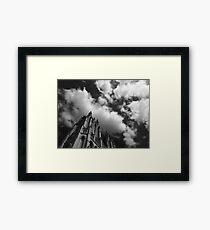 B&W Gothic Cathedral  Framed Print