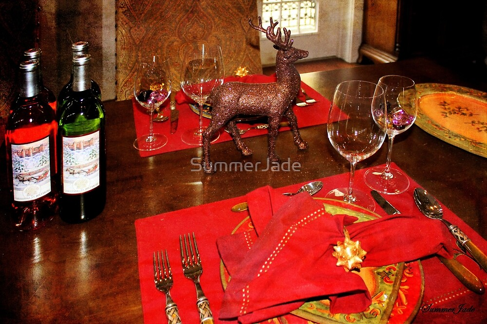A Holiday Table Set Just for Two by SummerJade