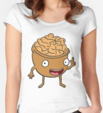 Funny vegetarian walnut design for vegetarians and vegan lovers Women's Fitted Scoop T-Shirt