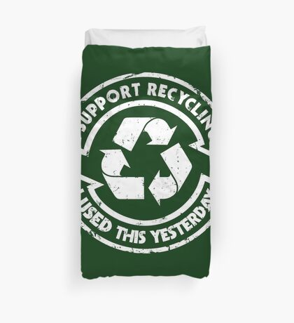 I support recycling Duvet Cover