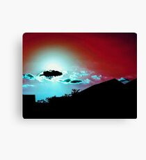 Red Sky, Blue Clouds Canvas Print