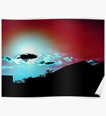 Red Sky, Blue Clouds Poster