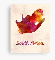 South Africa  in watercolor Canvas Print