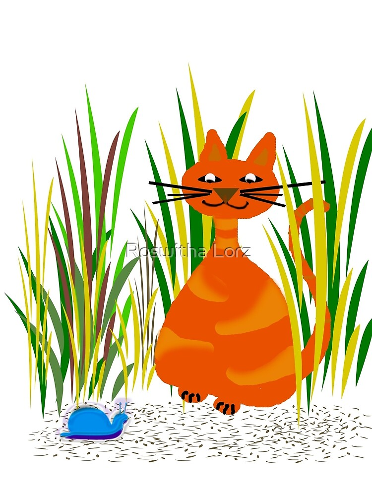 BlueSnail with Cat  by RosiLorz