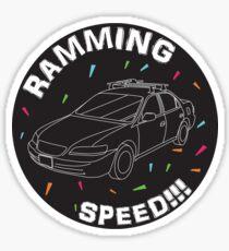 RAMMING SPEED!!! Sticker