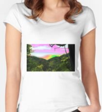 psychedelic sunset Women's Fitted Scoop T-Shirt