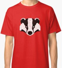 Badgers Crossing (B&W Badger Face) Classic T-Shirt
