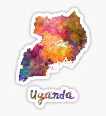 Uganda in watercolor Sticker