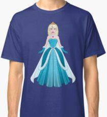 Snow Princess In Blue Dress Front Classic T-Shirt