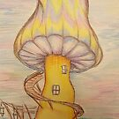 Shroomie  house by KathHanthorneAr
