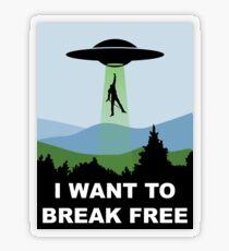 I Want to Break Free - Freddie Returns to Mercury Transparent Sticker