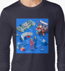 USA Political Elections Infographic Long Sleeve T-Shirt