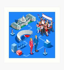 USA Political Elections Infographic Art Print