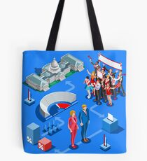 USA Political Elections Infographic Tote Bag