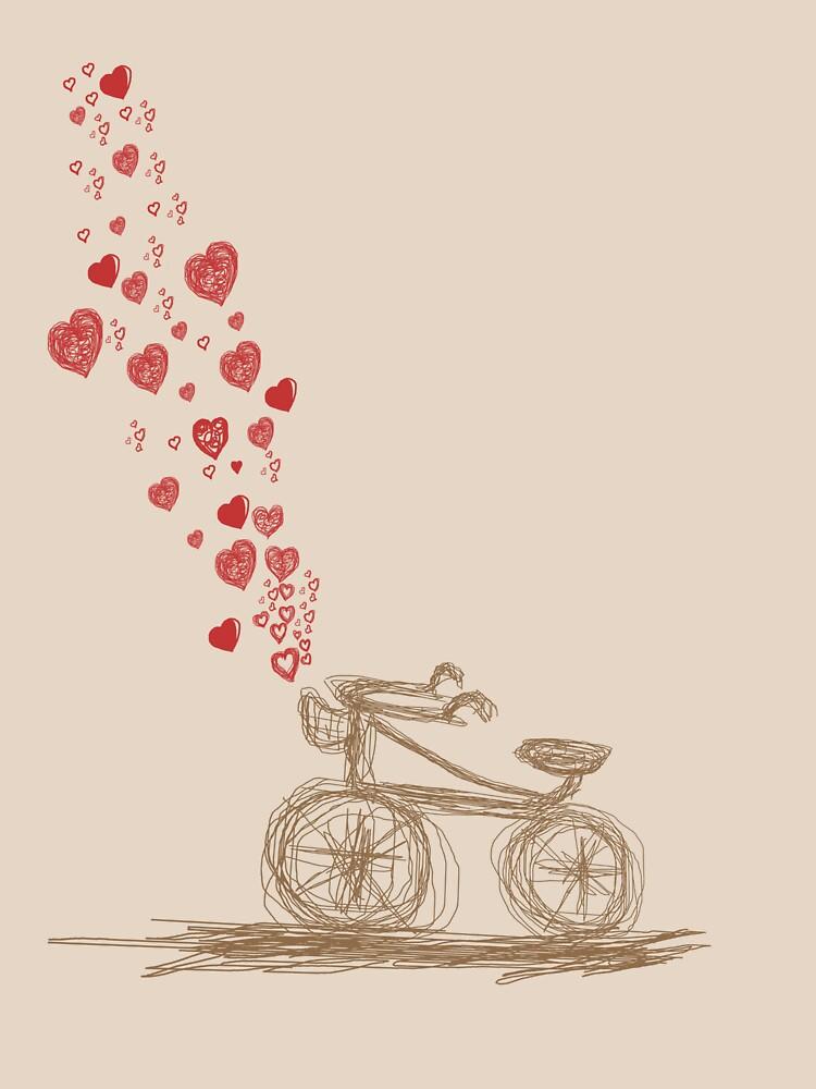 retro bike in love! by reynarte