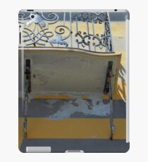 Balcony detail with thin metal decoration iPad Case/Skin