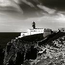 Cabo san Vicente, Portugal Black and White by Bernard Cavanagh