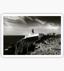 Cabo san Vicente, Portugal Black and White Sticker
