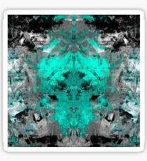 abstract teal/grey Sticker