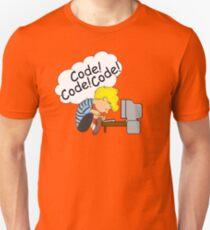 Code! Code! Code! Slim Fit T-Shirt