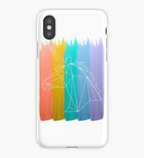 Rainbow Unicorn  watercolor Art  iPhone Case/Skin