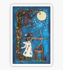 Diana Goddess of the Moon and Hunt Sticker