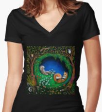 Midsummer Night's Dream Women's Fitted V-Neck T-Shirt