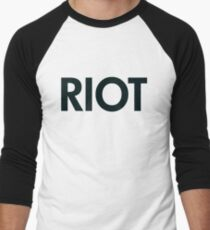 Riot (black) Men's Baseball ¾ T-Shirt