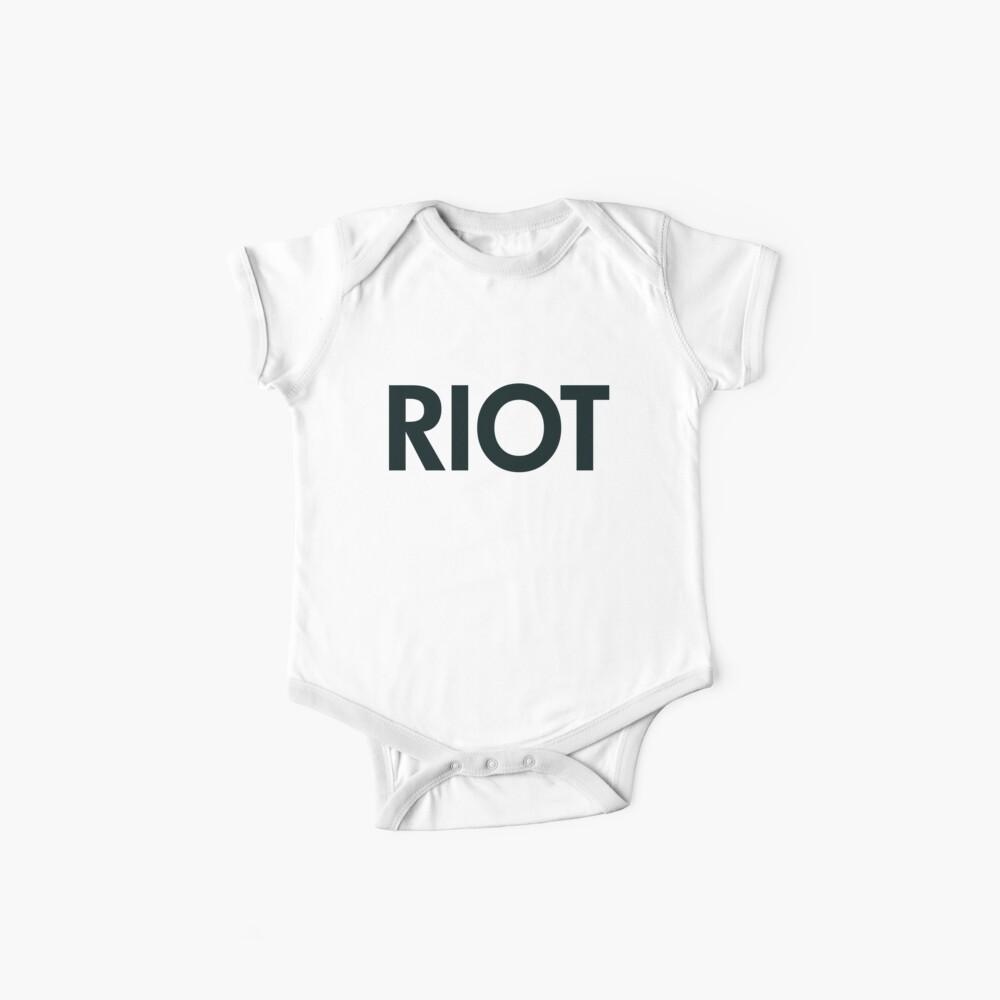 Riot (schwarz) Baby Bodys