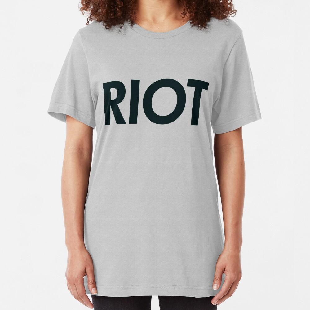Riot (black) Slim Fit T-Shirt