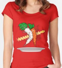 Makanko-salad!!! Women's Fitted Scoop T-Shirt