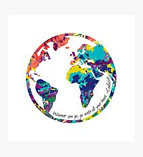 Go With All Your Heart - World Photographic Print